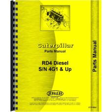 Caterpillar RD4 Crawler Parts Manual (SN# 4G1 and Up)