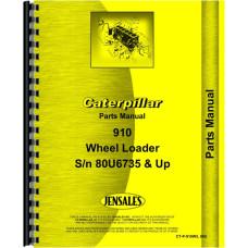 Caterpillar 910 Wheel Loader Parts Manual (SN# 80U6735 and Up)