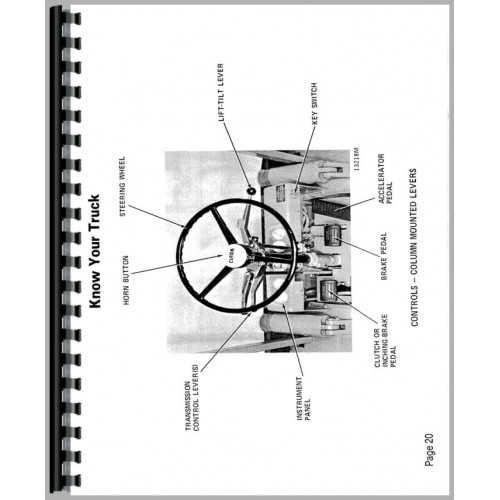 Clark C500 Y40-Y55 Forklift Operators Manual