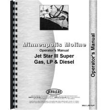 Minneapolis Moline Jet Star 3 Tractor Operators Manual (SN# S393A)