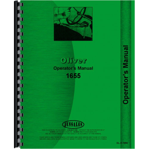 Oliver 1655 Tractor Operators Manual on