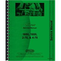 Cockshutt 1650 Tractor Service Manual