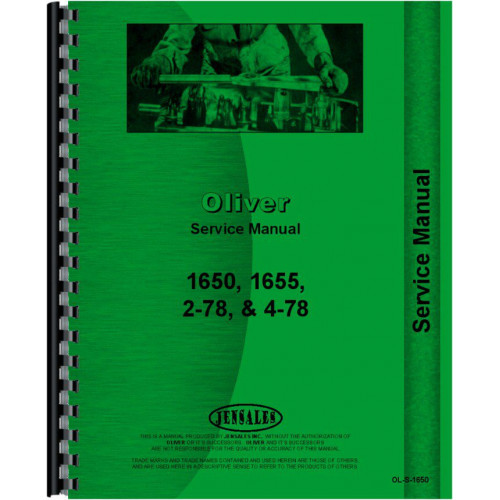 1600 Oliver Tractor Technical Service Shop Repair Manual