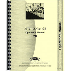 Cockshutt 20 Tractor Operators Manual