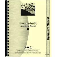 Cockshutt 40 Tractor Operators Manual