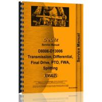 Deutz (Allis) D9006 Tractor Service Manual (Drivetrain)