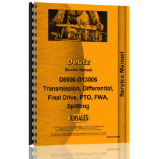 Deutz (Allis) D10006 Tractor Service Manual (Drivetrain)