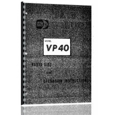 Ditch Witch VP-40 Vibratory Plow   Parts Manual