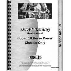 Image of David Bradley Super 5.6 Walk Behind Tractor Service Manual (Chassis)