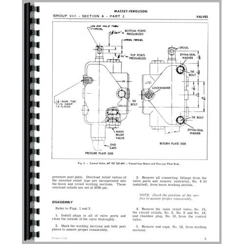 Massey Ferguson 220 Backhoe Attachment Service Manual