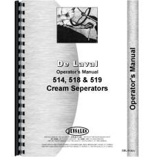 Delaval 514, 518, 519 Cream Separator Operators Manual