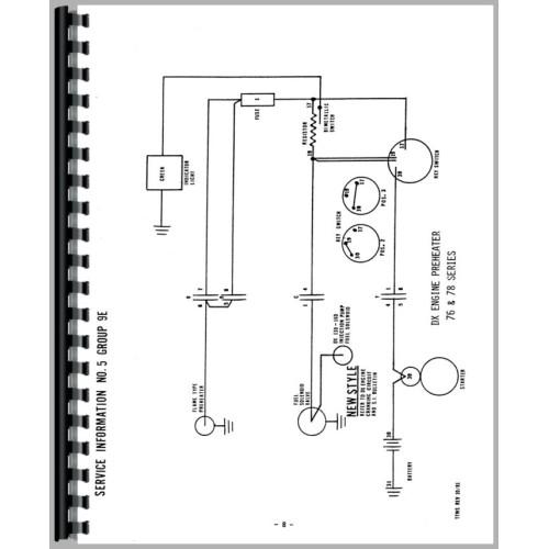 deutz  allis  d5506 tractor wiring diagram service manual