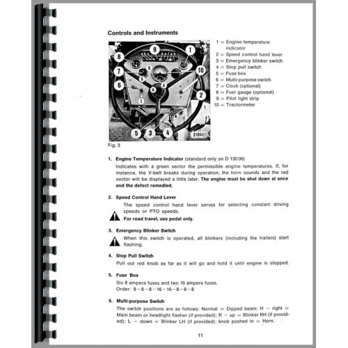 Deutz allis 612 Owners manual
