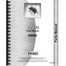 Image of Deutz (Allis) D9006 Tractor Parts Manual (SN# 7923/1 and Up)