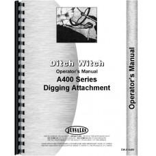 Image of Ditch Witch A400 Digging Attachment Operators Manual