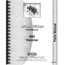 Ditch Witch R-65 Trencher Parts Manual (Chassis)