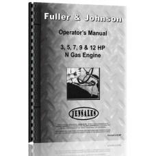 Fuller and Johnson N 3-12 HP Engine Operators Manual