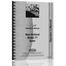 New Holland 77 Baler Operators Manual