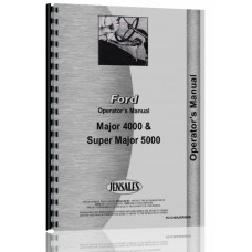 Ford 4000 Major Tractor Operators Manual