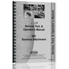 Ford 54C Sherman 54C Backhoe Attachment Operators Manual