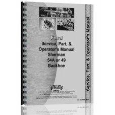 Ford 8N Sherman 54A Backhoe Attachment Operators Manual