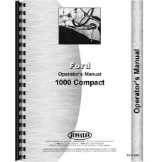 Ford 1000 Tractor Operators Manual