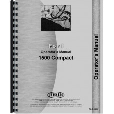 Ford 1500 Tractor Operators Manual