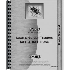 Ford 16HP Lawn & Garden Tractor Parts Manual (Diesel)
