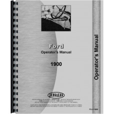 Ford 1900 Tractor Operators Manual