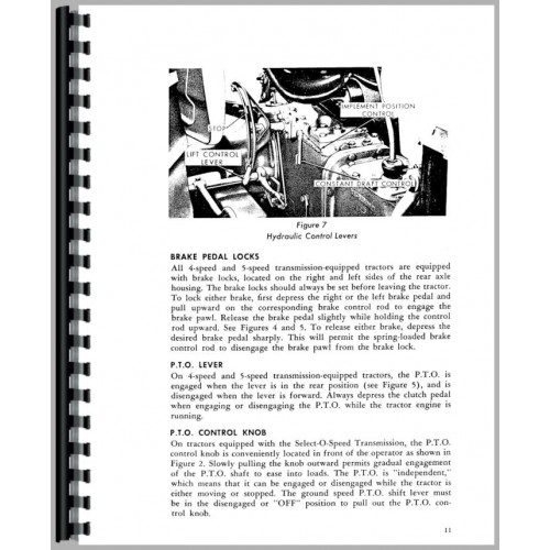 ford  tractor operators manual    cyl