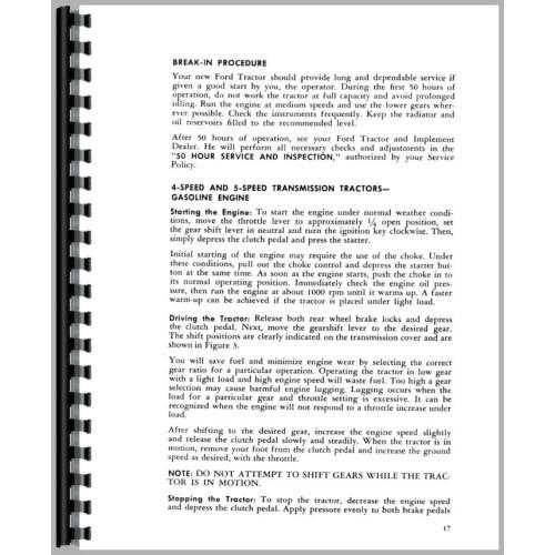 ford 4000 tractor operators manual 1962 1964 4 cyl rh jensales com