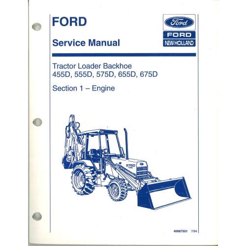 ford 575d tractor loader backhoe service manual 3 4 cyl diesel rh jensales com Ford 575D Backhoe Specifications Ford 575D Backhoe Parts