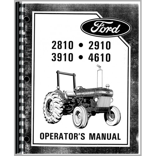 ford 2910 tractor operators manual 1984 1985 rh jensales com manual for 2010 mazda cx 9 manual for 2010 chevy avalanche
