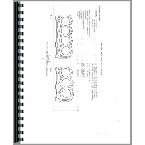 ford 5000 tractor data manual  data