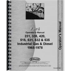 Ford 335 Industrial Tractor Operators Manual (1975-1978)