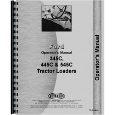 Ford 345C Industrial Tractor Operators Manual