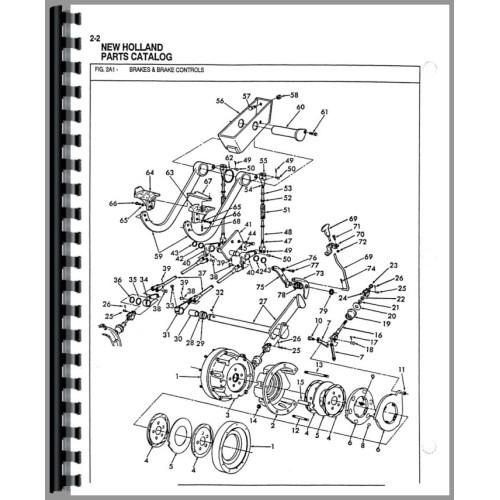 ford 555 tractor loader backhoe parts manual