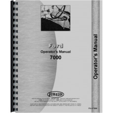 Ford 7000 Tractor Operators Manual