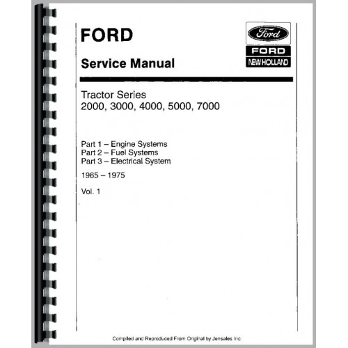 ford 4110 tractor service manual 1965 1974 rh jensales com 1969 Ford Tractor Ford 4000 Tractor