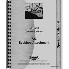 Ford 723 Backhoe Attachment Operators Manual