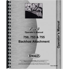 Ford 753 Backhoe Attachment Operators Manual