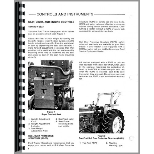 ford  tractor operators manual   diesel