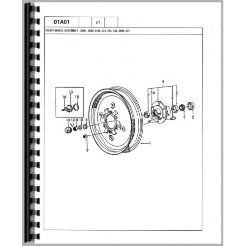 ford 3600 tractor parts manual (1975-1981)  jensales