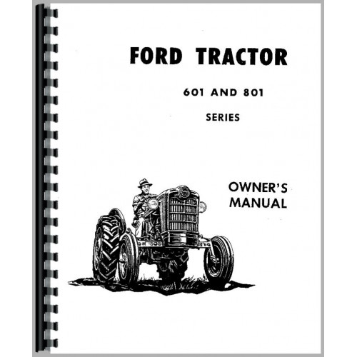 ford 851 tractor operators manual  1957