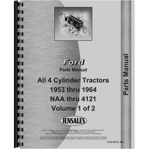 ford 4000 tractor parts manual 1962 1964 4 cyl only rh jensales com ford 4000 tractor pto parts diagram ford 4000 parts breakdown