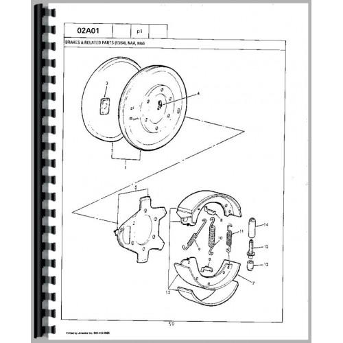 Ford 850 Tractor Parts Manual