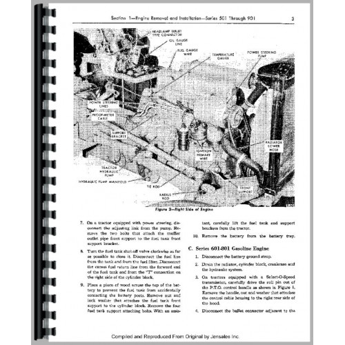ford 4000 tractor service manual 1962 1964 4 cyl rh jensales com Ford 4000 Tractor Information ford 4000 tractor service manual free download