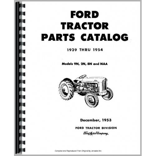 ford 8n tractor parts manual  1947