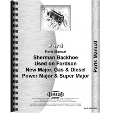 Ford Power Major Sherman 54E Backhoe Attachment Parts Manual (1958-1961) (Attachment)