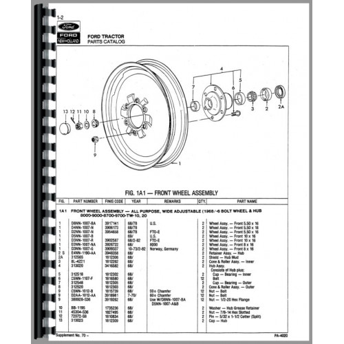 ford 9700 tractor parts manual rh jensales com ford tractor parts manuals online ford tractor parts manual online